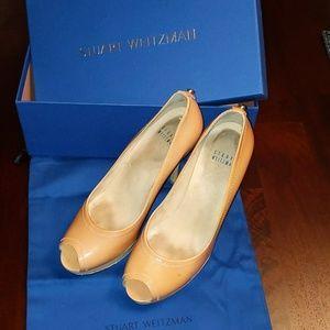 Stuart Weitzman peep toe heels size 7.5